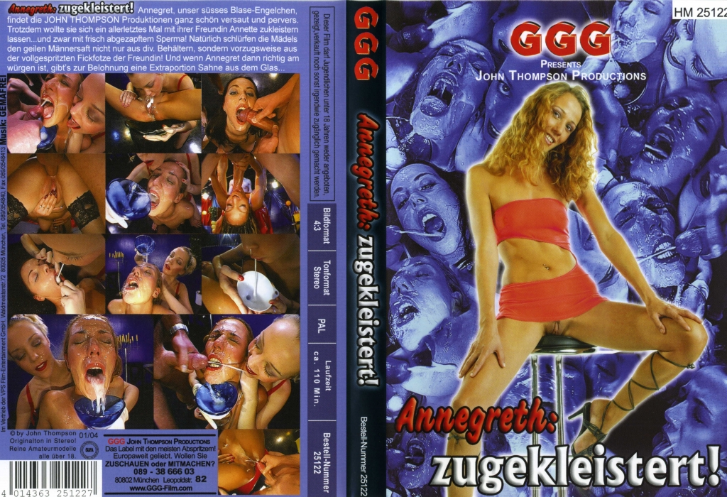 [JTPron] GGG - Annegreth: zugekleistert! / Annegret: Stuck Together (25122 / John Thompson / GGG) [2004 г., Group, Bukkake, DVDRemux] Annegret, Annette Schwarz ...