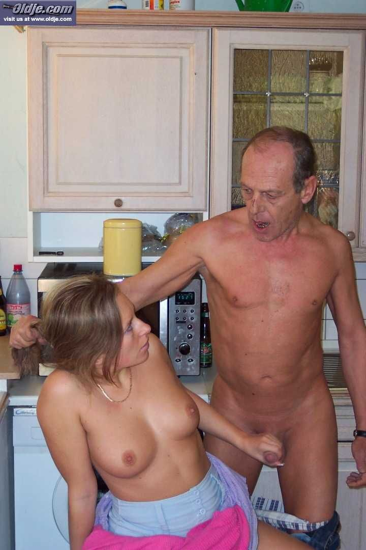 Young girl blows old man — 5